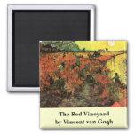 Van Gogh, el viñedo rojo, impresionismo del vintag Imán Para Frigorífico