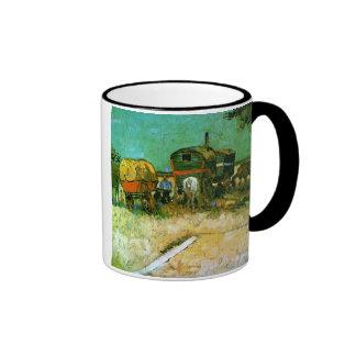 Van Gogh Encampment of Gypsies Ringer Coffee Mug