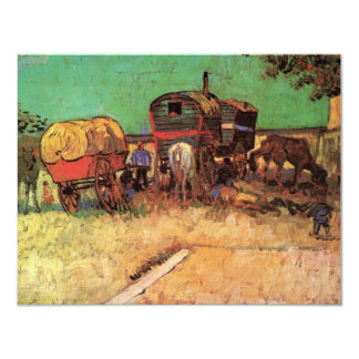 Van Gogh; Encampment of Gypsies with Caravans Card