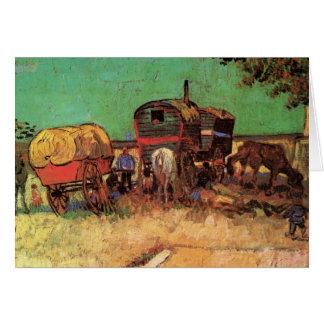 Van Gogh; Encampment of Gypsies with Caravans Greeting Cards
