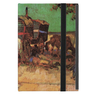 Van Gogh; Encampment of Gypsies with Caravans Covers For iPad Mini