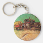Van Gogh; Encampment of Gypsies with Caravans Key Chains