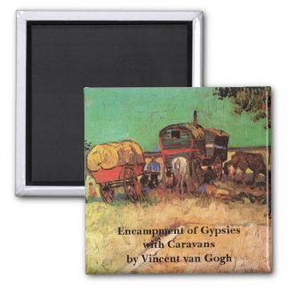 Van Gogh; Encampment of Gypsies with Caravans Magnet