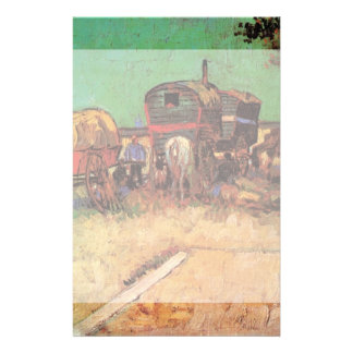 Van Gogh; Encampment of Gypsies with Caravans Stationery