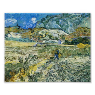 Van Gogh - Enclosed Field with Peasant Posters