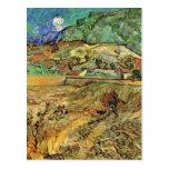 Van Gogh Enclosed Wheat Field with Peasant Postcard