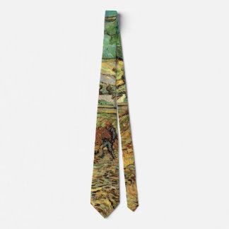 Van Gogh Enclosed Wheat Field with Peasant Tie