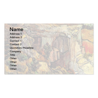 Van Gogh - Entrance To A Quarry Near Saint Remy Business Card