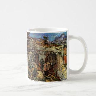 Van Gogh Entrance to a Quarry, Vintage Fine Art Coffee Mug