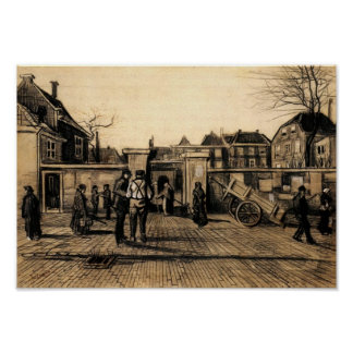 Van Gogh - Entrance to the Pawn Bank, The Hague Poster