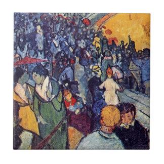 Van Gogh - espectadores en la arena en Arles Azulejos Cerámicos
