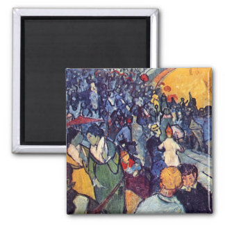 Van Gogh - espectadores en la arena en Arles Imán Cuadrado