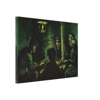 Van Gogh; Estudio para los comedores de la patata, Lona Envuelta Para Galerias