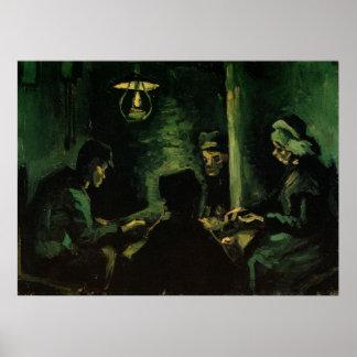 Van Gogh; Estudio para los comedores de la patata, Posters