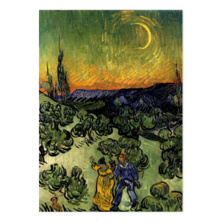 Van Gogh: Evening Promenade Large Business Cards (Pack Of 100)