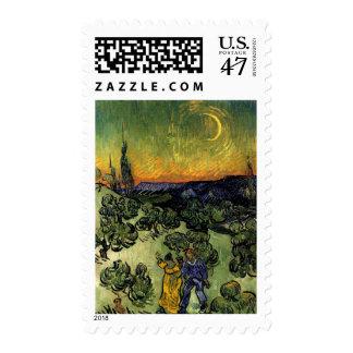 Van Gogh: Evening Promenade Postage