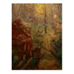 Van Gogh Evening: The Watch, Vintage Impressionism Post Card