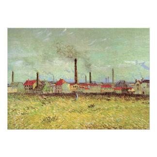 Van Gogh Fábricas en Asnières Quai de Clichy Comunicados Personalizados