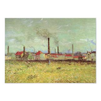 Van Gogh; Factories at Asnières, Quai de Clichy 5x7 Paper Invitation Card