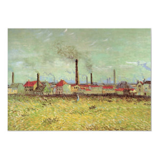 Van Gogh Factories at Asnieres, Vintage Fine Art Card