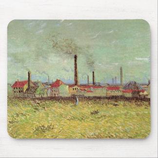 Van Gogh Factories at Asnieres, Vintage Fine Art Mouse Pad