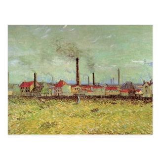 Van Gogh Factories at Asnieres, Vintage Fine Art Postcard