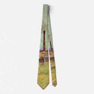 Van Gogh Factories at Asnieres, Vintage Fine Art Tie