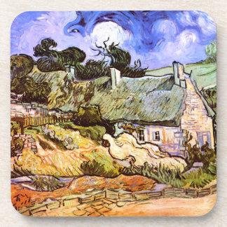 Van Gogh: Farmers Cottage in Cordeville Beverage Coaster