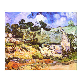 Van Gogh: Farmers Cottage in Cordeville Stretched Canvas Prints