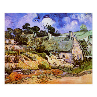 Van Gogh: Farmers Cottage in Cordeville Print
