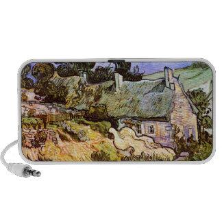 Van Gogh: Farmers Cottage in Cordeville Portable Speaker
