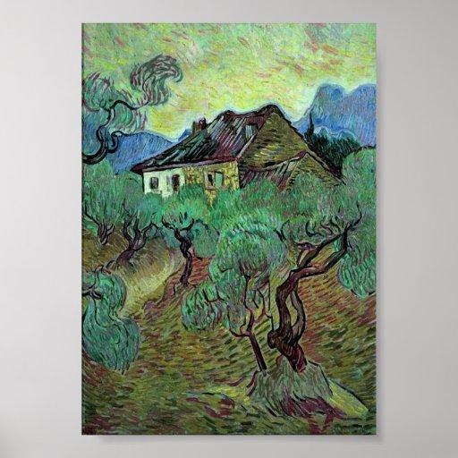 Van Gogh Farmhouse Among Olive Trees (F664) Print