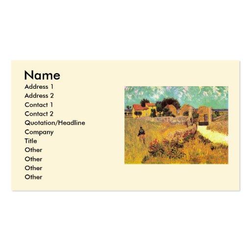 Van Gogh; Farmhouse in Provence, Vintage Farm Business Card