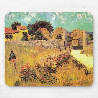 Van Gogh Farmhouse in Provence, Vintage Fine Art Mouse Pad