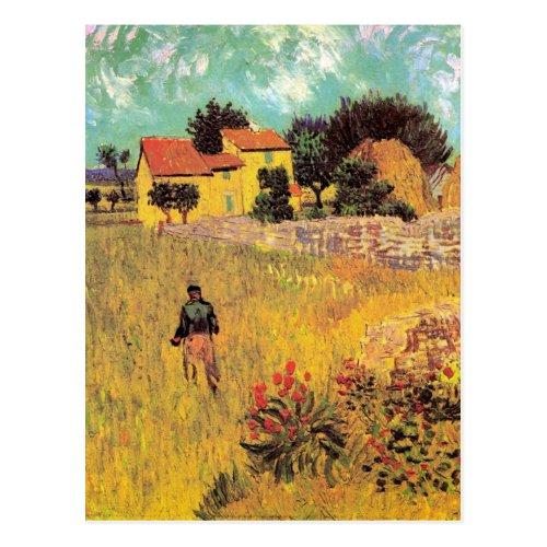 Van Gogh Farmhouse in Provence Vintage Fine Art Postcard