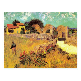 Van Gogh Farmhouse in Provence, Vintage Fine Art Postcard