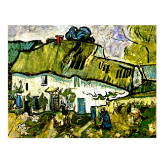 Van Gogh - Farmhouse with Two Figures Postcard