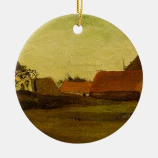 Van Gogh Farmhouses in Loosduinen, The Hague Ceramic Ornament