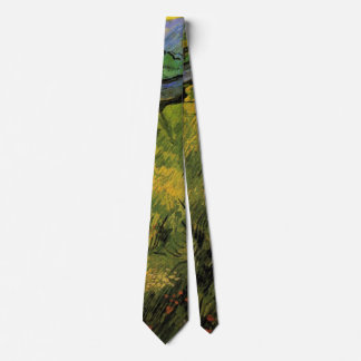 Van Gogh Field of Spring Wheat, Sunrise, Fine Art Neck Tie