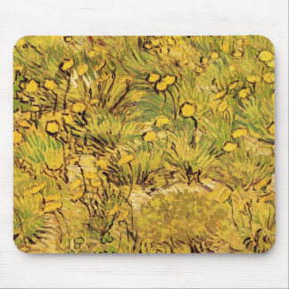 Van Gogh Field of Yellow Flowers, Vintage Fine Art Mouse Pad