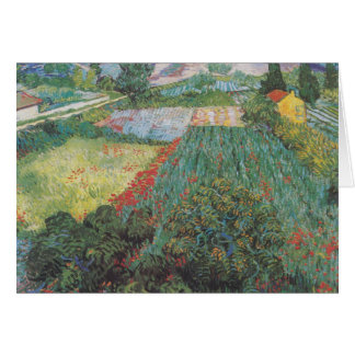 van Gogh - Field with Poppies (1889) Card