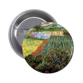 Van Gogh - Field with Poppies 2 Inch Round Button