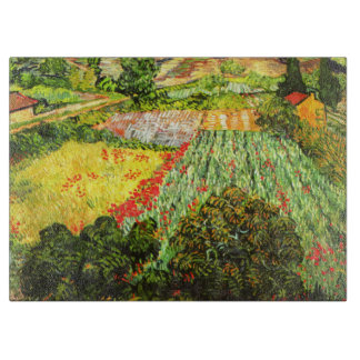 Van Gogh: Field with Poppies Cutting Board