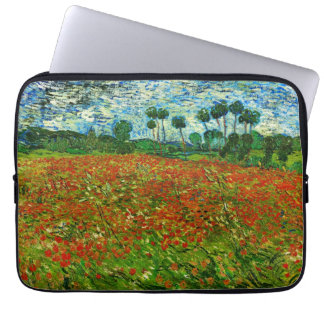Van Gogh Field with Poppies (F636) Fine Art Computer Sleeve