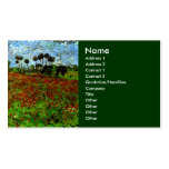 Van Gogh Field with Poppies (F636) Fine Art Double-Sided Standard Business Cards (Pack Of 100)