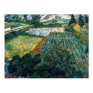 Van Gogh - Field with Poppies Postcard
