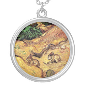 Van Gogh - Field With Two Rabbits Personalized Necklace