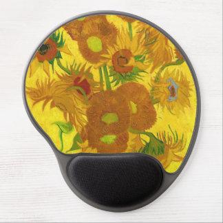 Van Gogh Fifteen Sunflowers In A Vase Fine Art Gel Mouse Pad