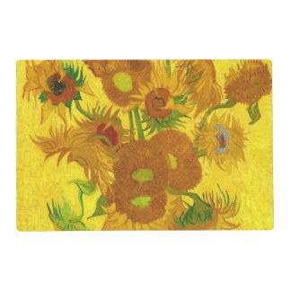 Van Gogh Fifteen Sunflowers In A Vase Fine Art Placemat