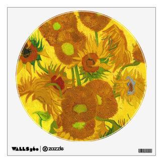 Van Gogh Fifteen Sunflowers In A Vase Fine Art Wall Decal
